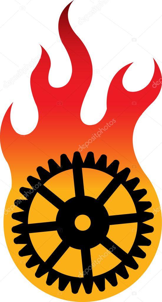 Gear flame logo