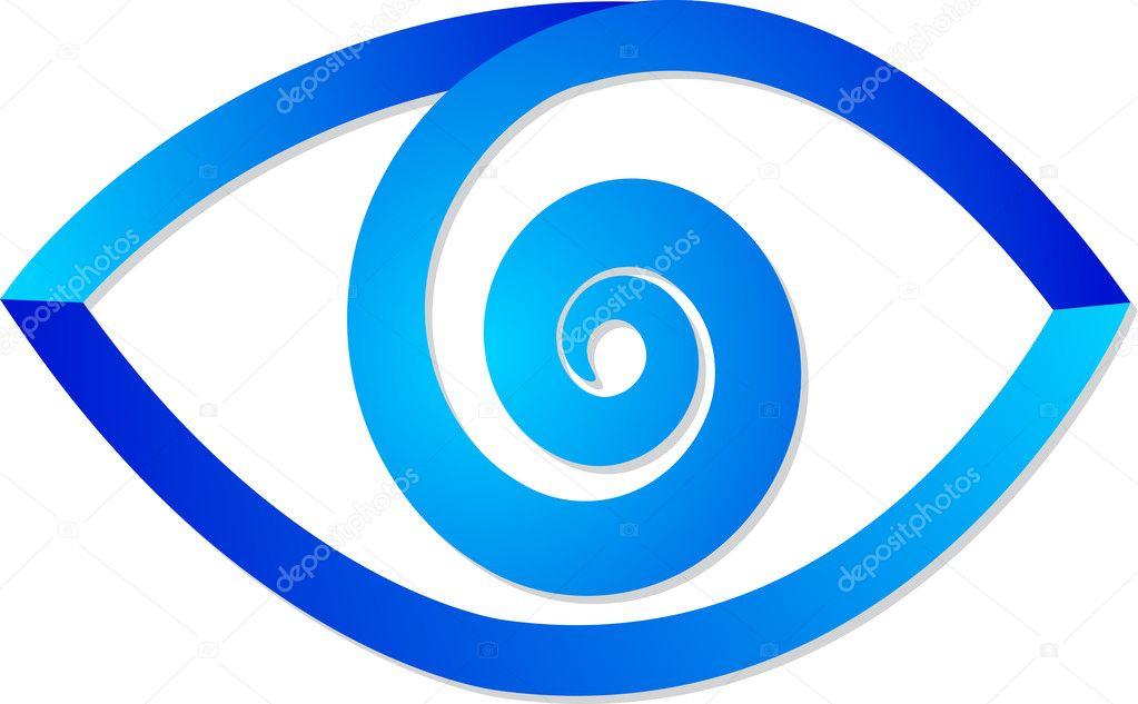 Blue Eye Logo Stock Vector Magagraphics 11783445