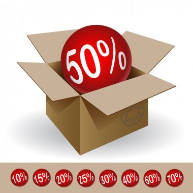 Box with a discount