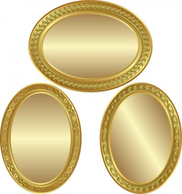Golden oval background
