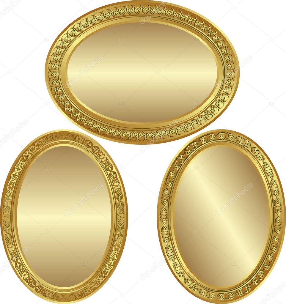 Golden oval background