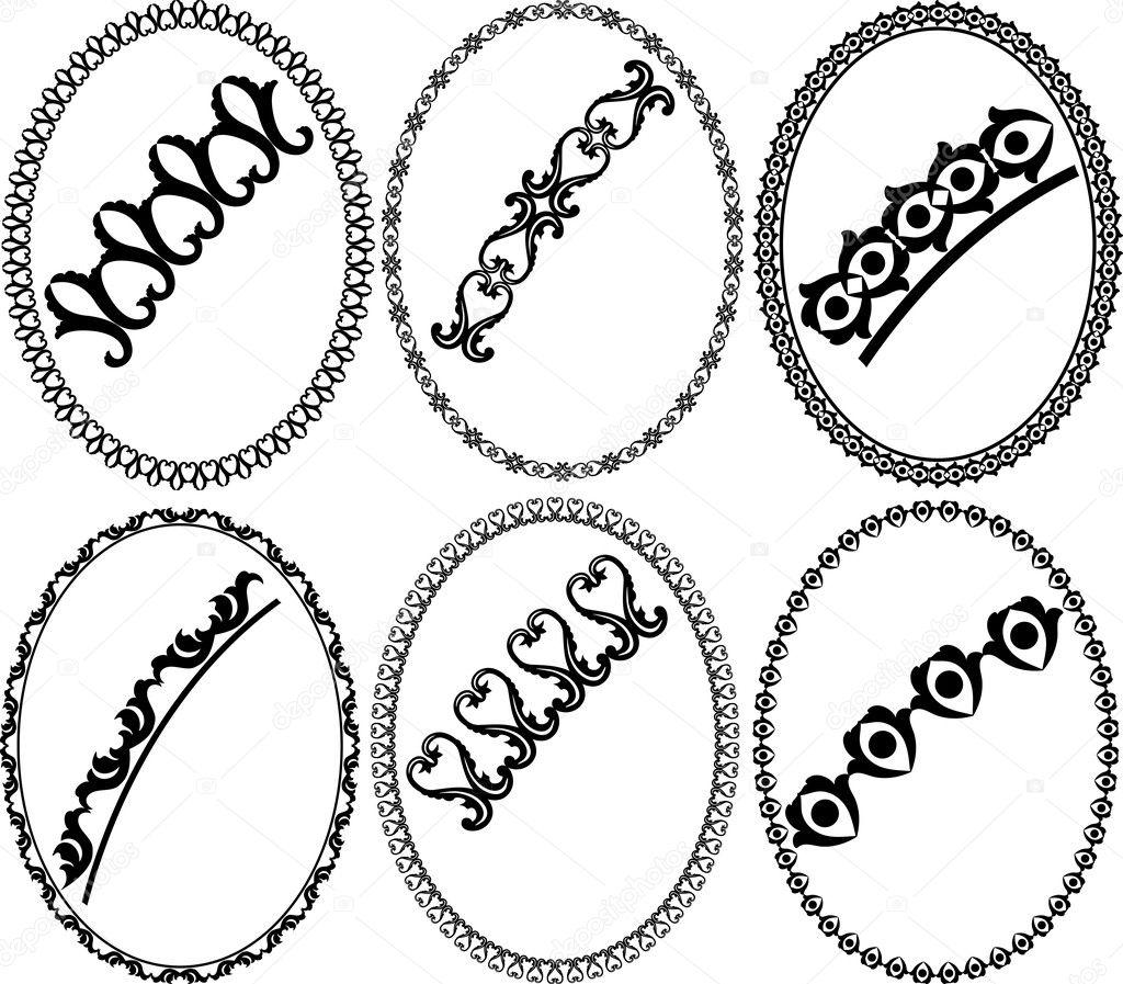 marcos ovalados — Vector de stock © mtmmarek #11252370