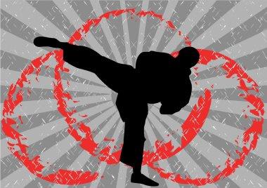 Stock Vector Illustration of Karate Icon