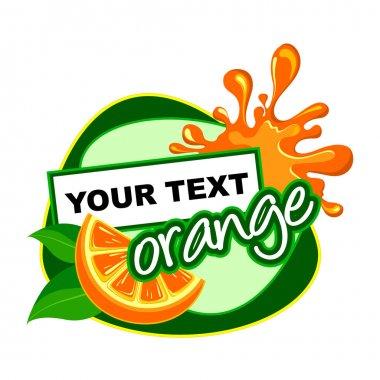 ORANGE. Fruit label.