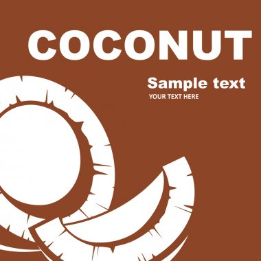 Coconut. Fruit label.