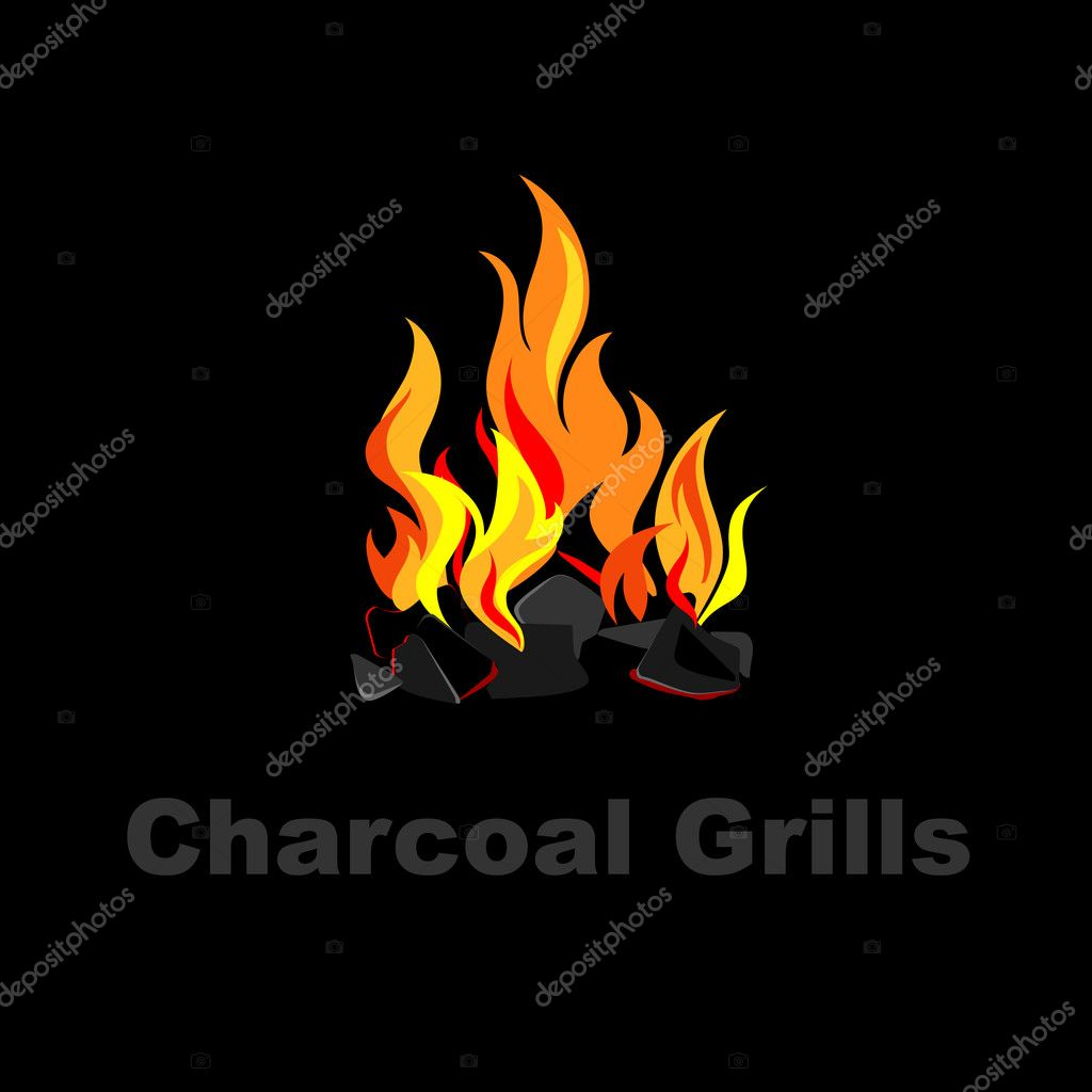 Charcoal grill design.