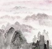 Čínská malba vysoké horské krajiny