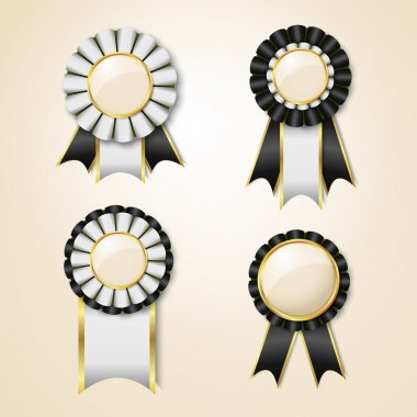 Set of vector prize ribbons
