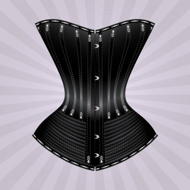 Black vector corset