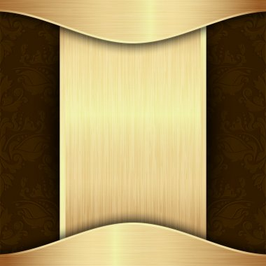 Gold and brown background template with place for text clip art vector
