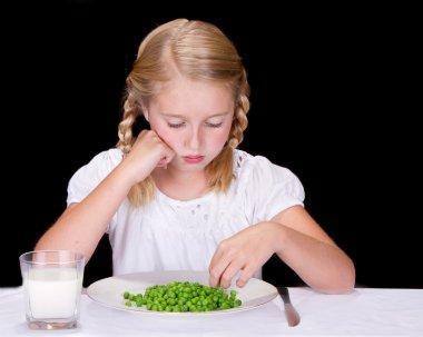 Child or teenager dislikes peas