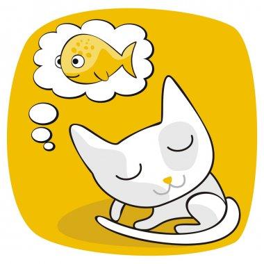 Cute Cat Dreaming