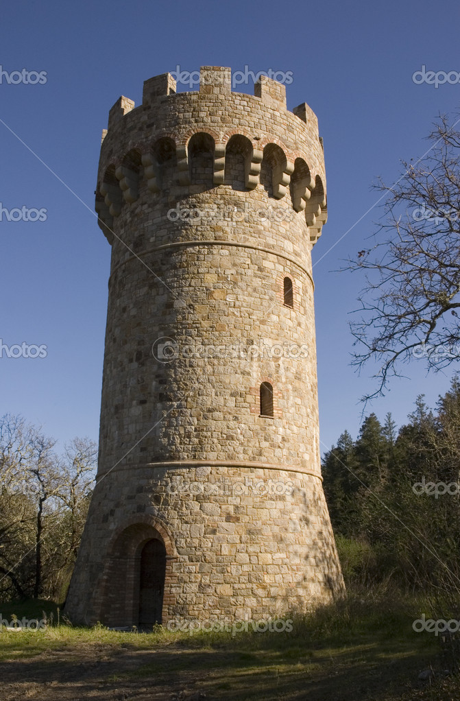 Conical Castle tower