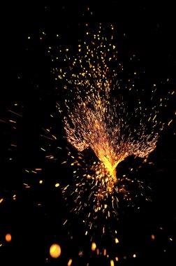 Explosive shower of sparks stock vector
