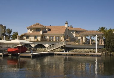 Executive house on the water