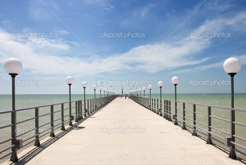 Pier on the coast of the Sea