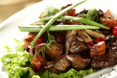 Salat with meat