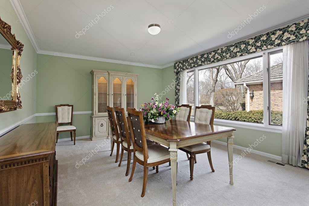 comedor con paredes de color verde lima — Foto de stock © lmphot ...