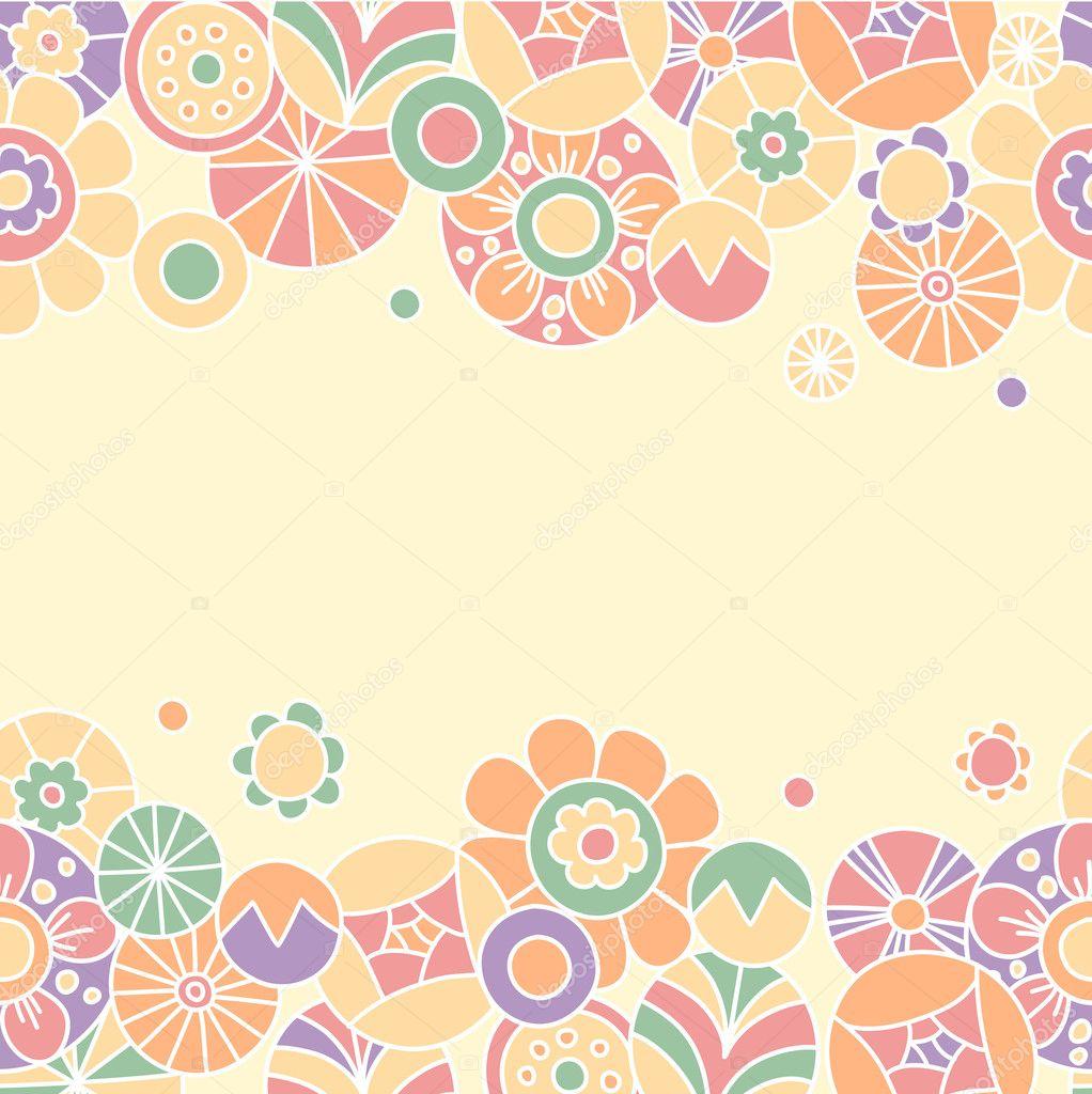 tarjeta de invitación floral #2. diseño del marco de plantilla para ...
