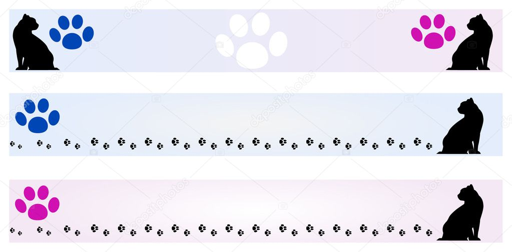 Banner - Cat frames — Stock Vector © Milacroft #11158637