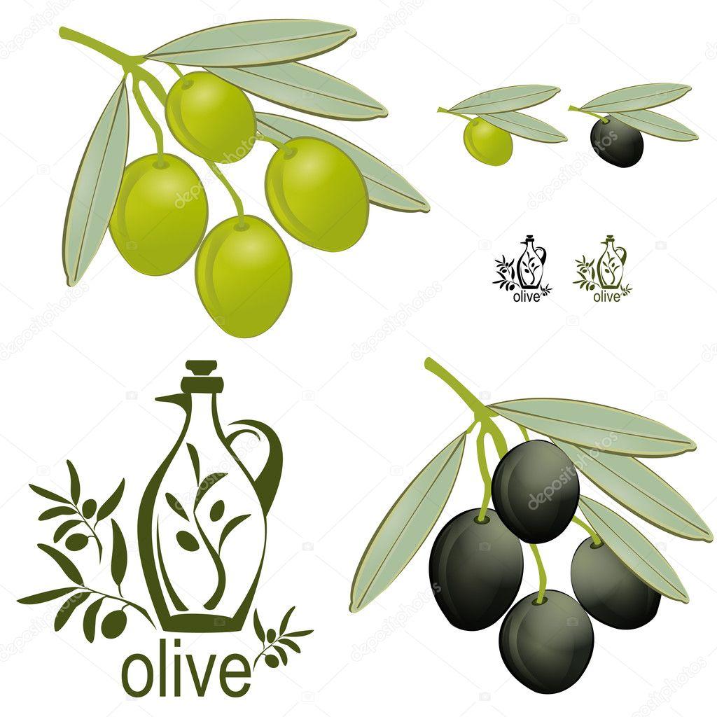 Vintage olive set