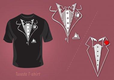 Tuxedo t-shirt vector design