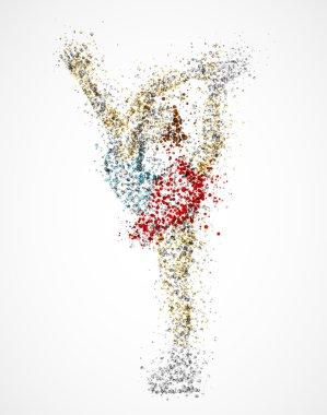 Abstract figure skater, bielmann spin. Eps 10 stock vector
