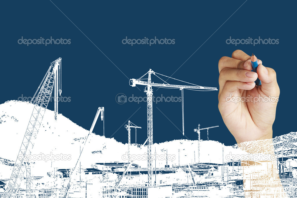 Drawing construction site