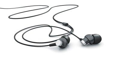 Headphones isolated on white 3d model