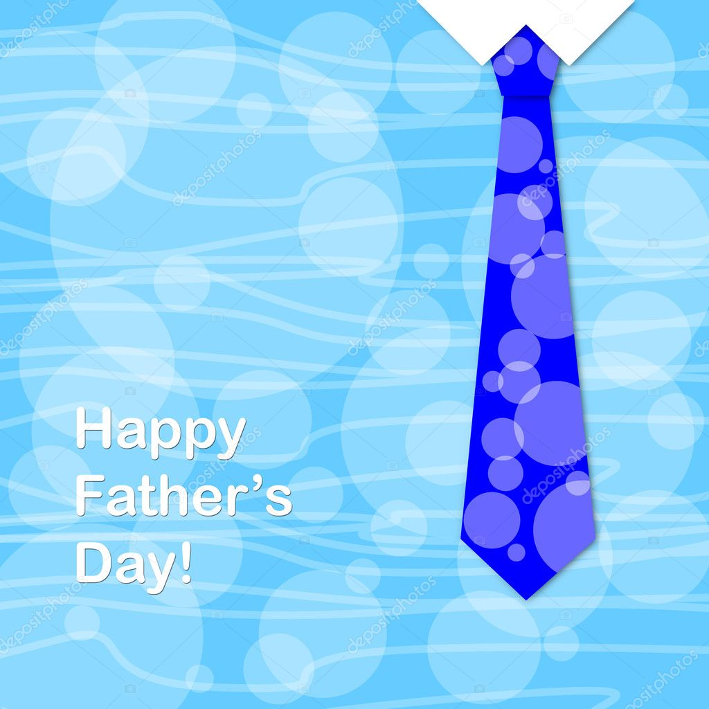 Blue tie and the sentence happy fathers day