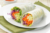 Fotografie Avocado salad roll