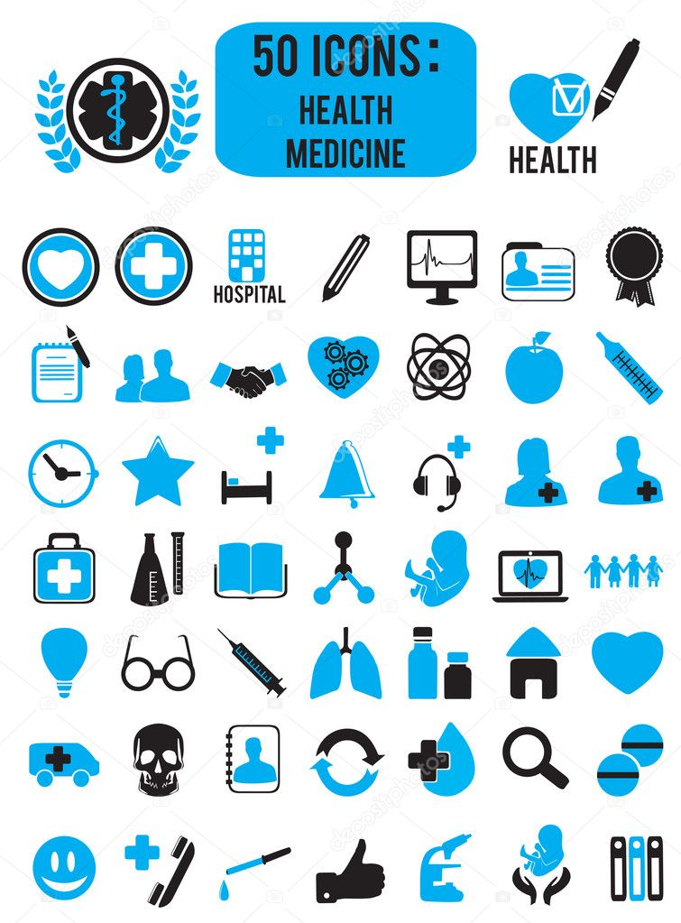 Set of medicine health icons