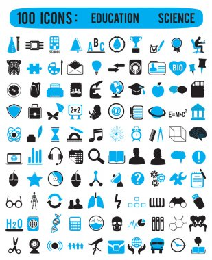 100 icons for education science