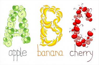 Alphabetic letters from the fruit - ABC