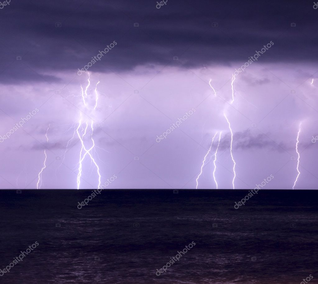 The storm and lightning