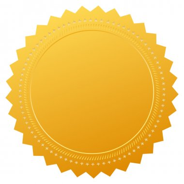 Vector blank gold certificate
