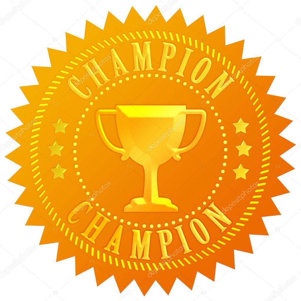 Selo de ouro campeão — Fotografia de Stock