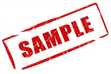 Sample stamp isolated on white stock vector