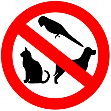 No animals sign