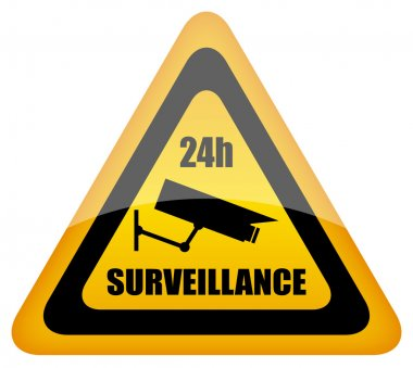 Vector video surveillance sign