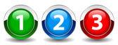 Fotografie Zahlen Vektor buttons