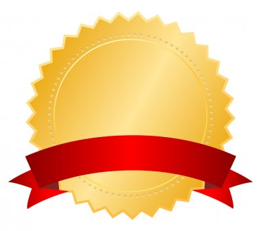 Blank medal with ribbon