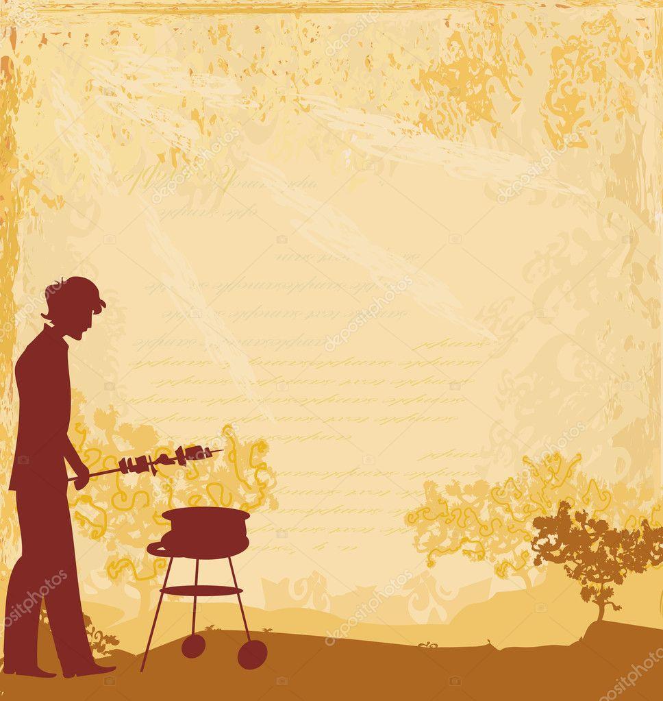 kochen auf seine grill-einladung — stockvektor #10967726, Einladungen