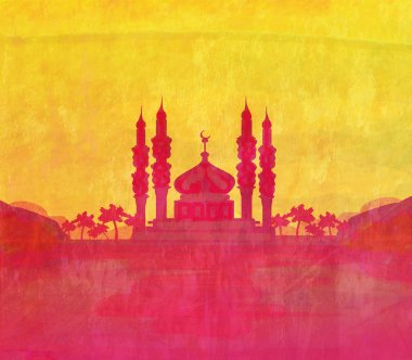 Ramadan kareem card , raster