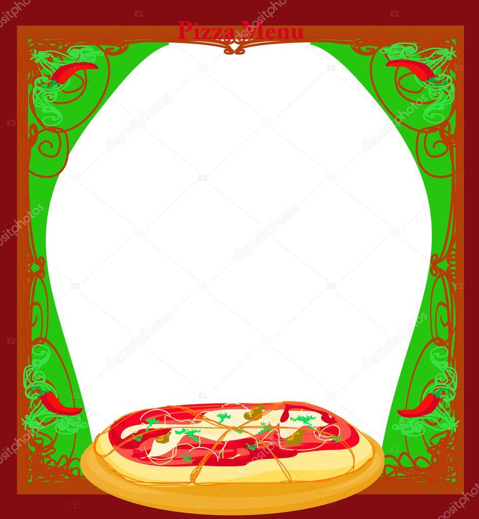 Modello Disegni Di Pizza Menu Vettoriali Stock Jackybrown 11227143