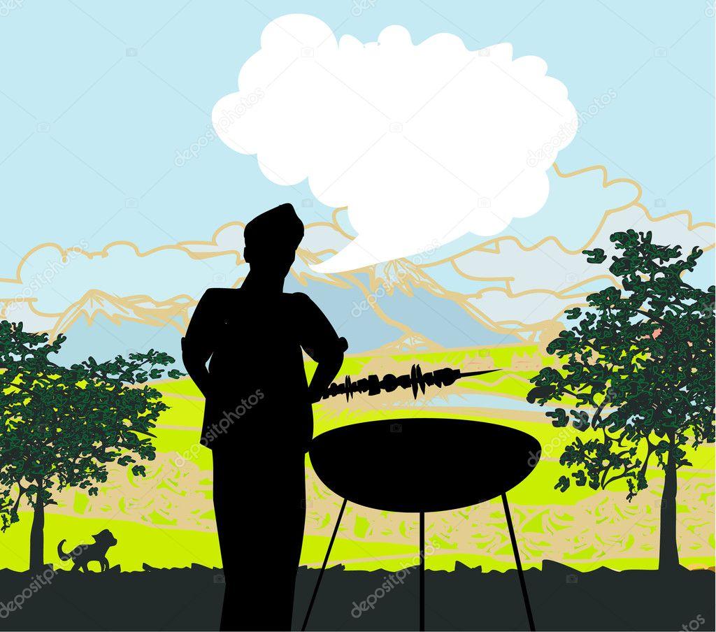 kochen auf seine grill-einladung — stockvektor #11808799, Einladungen