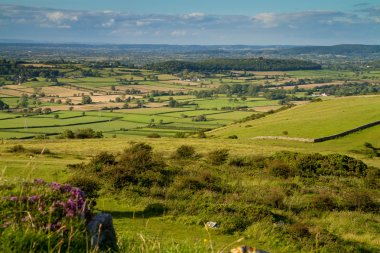 View from Crook Peak in Somerset England