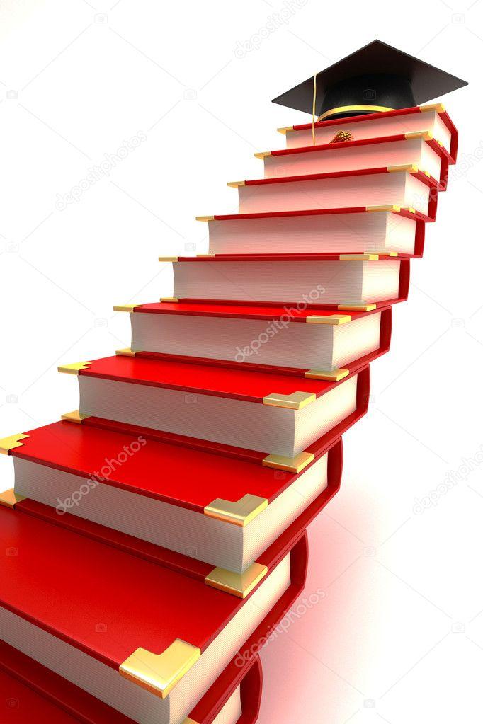 картинка лестница из книг сама