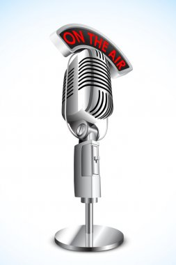 Microphone with On Air Tag