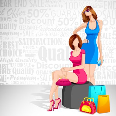 Ladies enjoying Sale